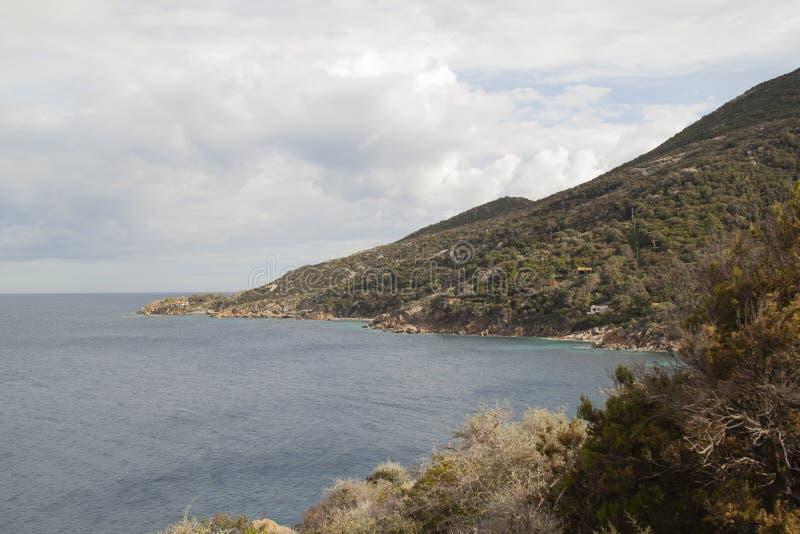 Delle Caldane Гроссето Италия cala острова Giglio стоковая фотография