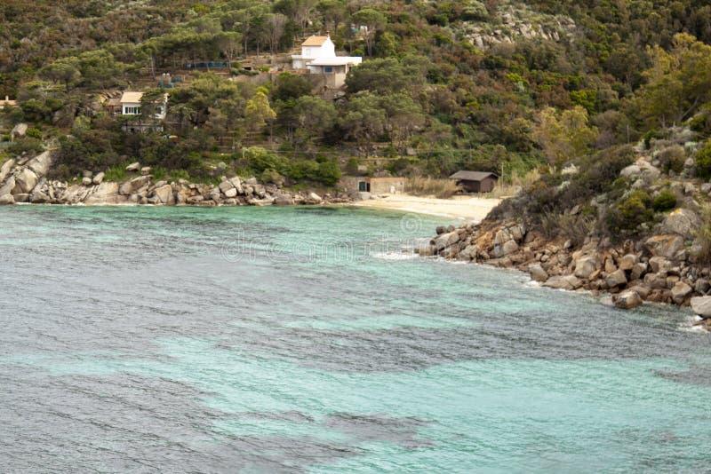 Delle Caldane Grosseto Itália de cala da ilha de Giglio imagem de stock royalty free