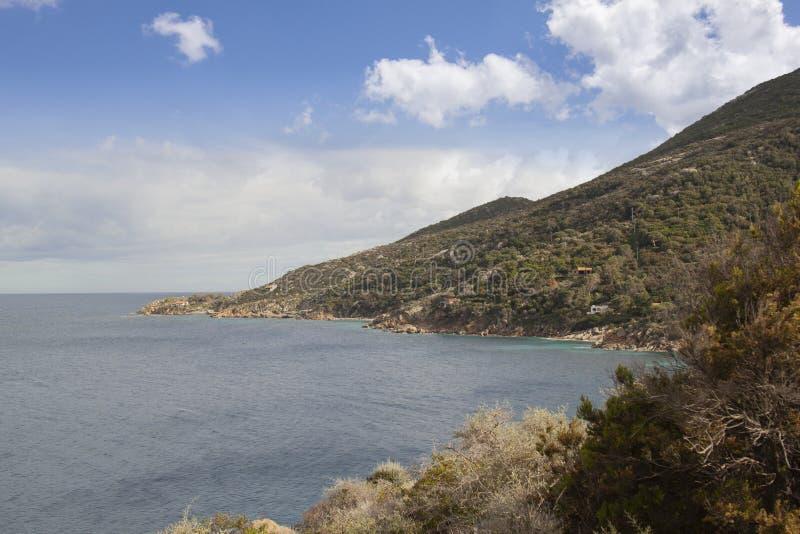 Delle Caldane Grosseto Itália de cala da ilha de Giglio fotos de stock royalty free