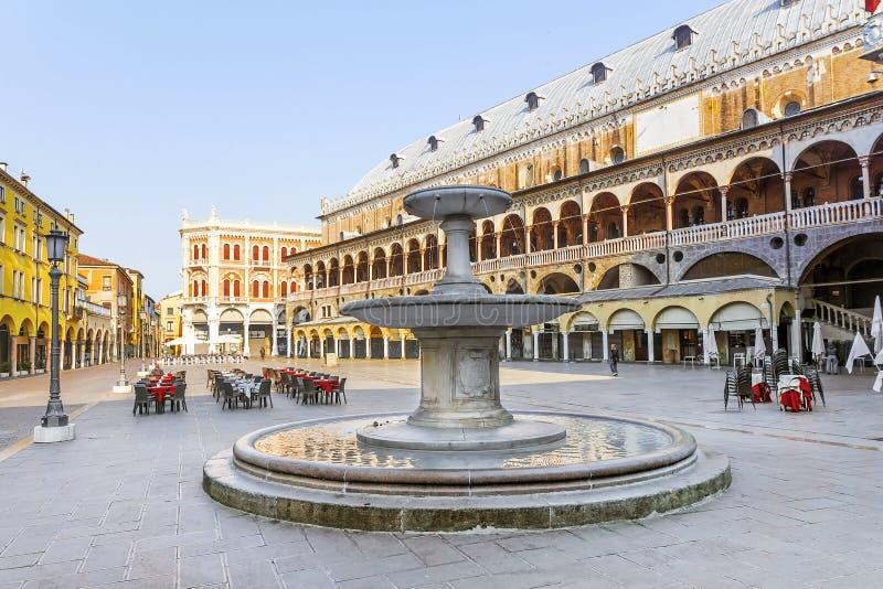 Delle Erbe della piazza a Padova fotografia stock