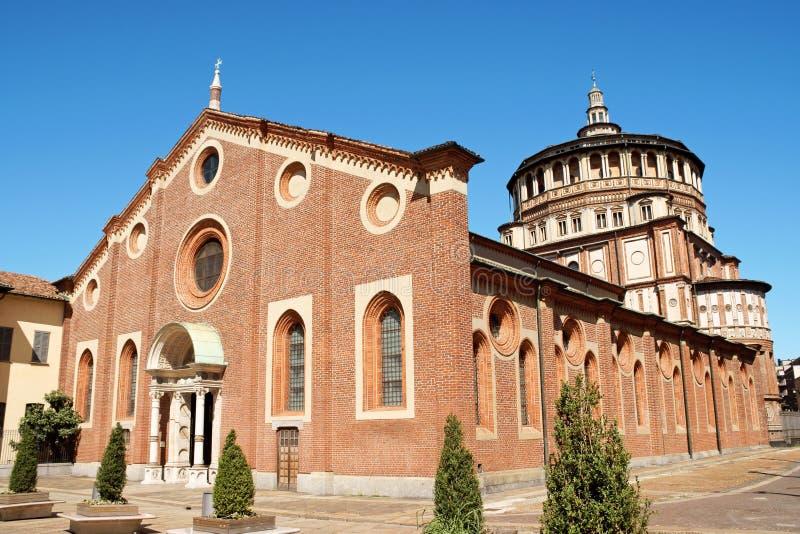 Delle Grazie, Milano della Santa Maria fotografia stock libera da diritti