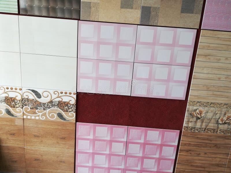 Delle mattonelle progettazione a casa fotografia stock