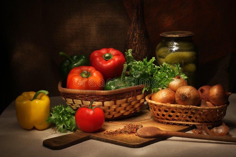 Delle verdure vita ancora immagine stock libera da diritti