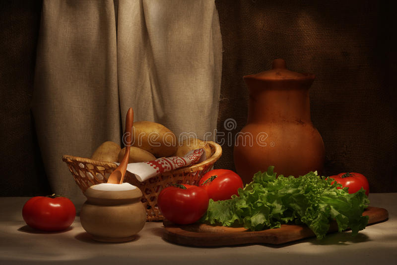 Delle verdure vita ancora fotografie stock