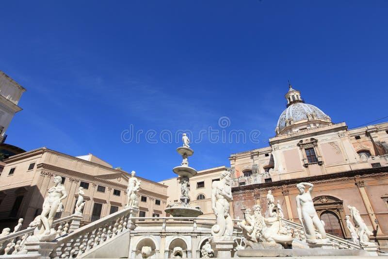 Delle Vergogne di Fontana a Palermo, Sicilia immagini stock libere da diritti