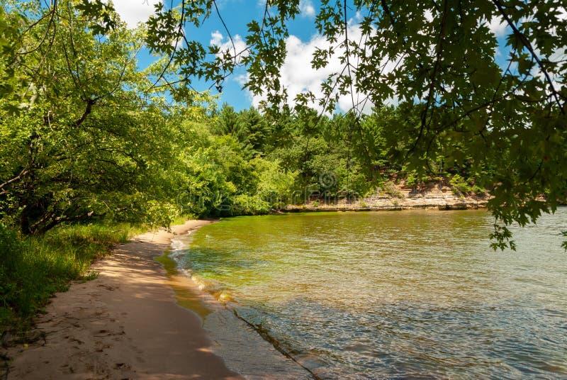 Dells van Wisconsin rivier royalty-vrije stock fotografie