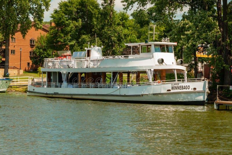 Dells van Wisconsin rivier royalty-vrije stock afbeeldingen