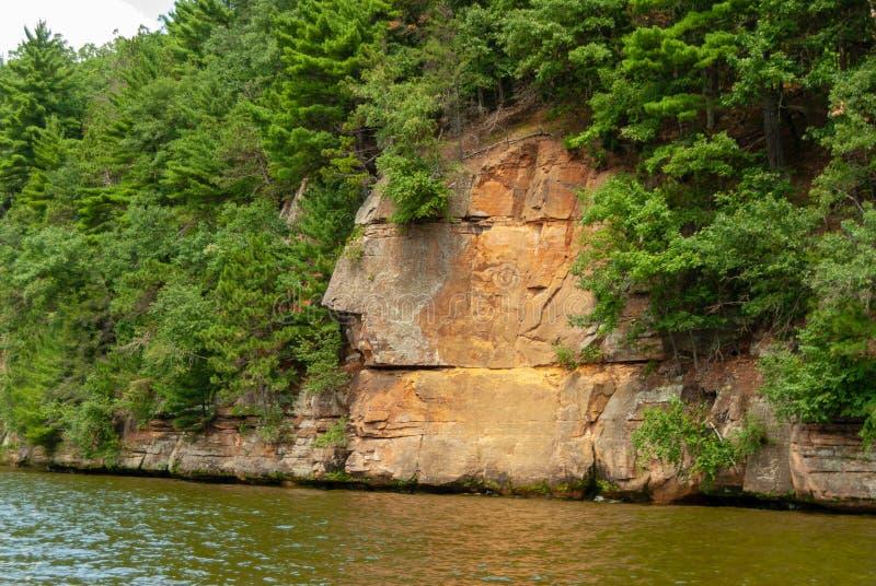 Dells van Wisconsin rivier royalty-vrije stock foto's