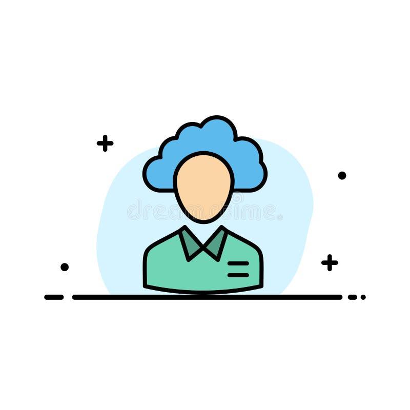 Delocaliseer, betrek, Mens, Beheer, Manager, Mensen, Malplaatje Middel van de Bedrijfs het Vlakke Lijn Gevulde Pictogram Vectorba stock illustratie