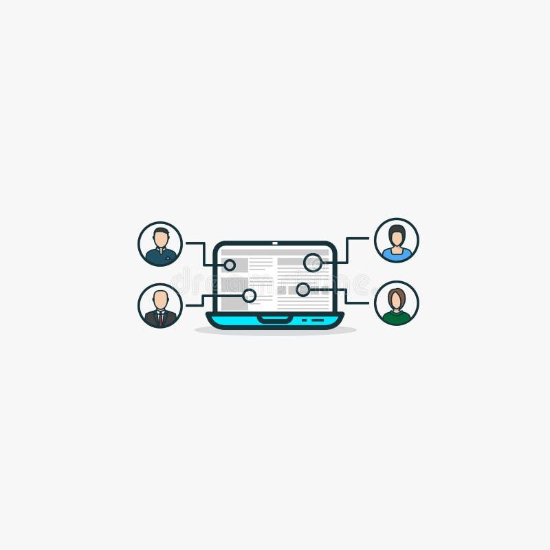 Delocaliseringsinternet concept vector illustratie