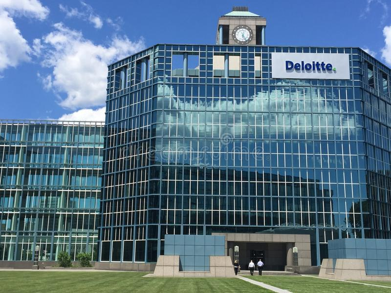 Deloitte-Büro in Stamford, Connecticut stockbild