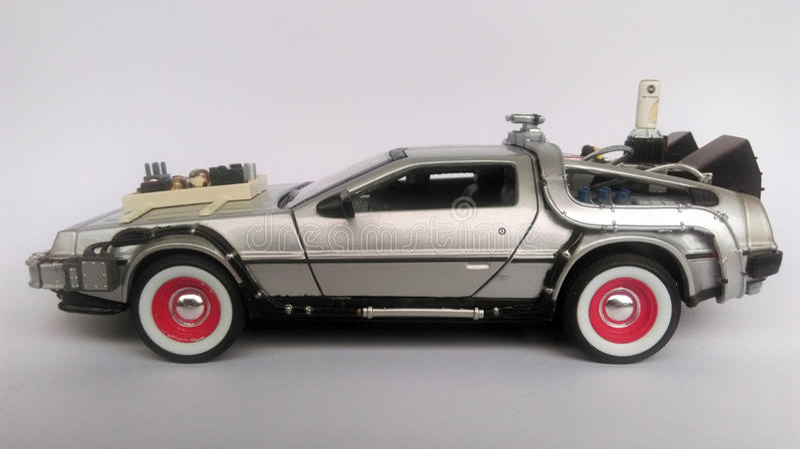Delorean - πίσω στο μελλοντικό μέρος 3 αυτοκινήτων στοκ φωτογραφία με δικαίωμα ελεύθερης χρήσης