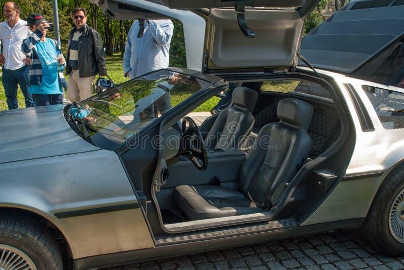 DeLorean dmc-12 εσωτερικό στοκ εικόνες