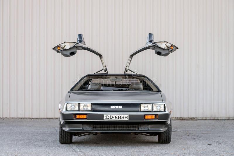 DeLorean dmc-12 auto stock fotografie