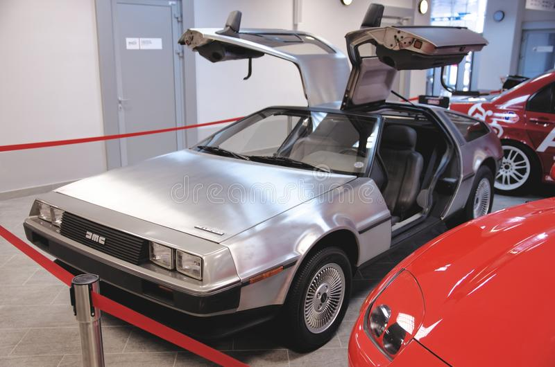 Download A DeLorean DMC-12 From The Front With The Gull-wing Doors Open & A DeLorean DMC-12 From The Front With The Gull-wing Doors Open ...