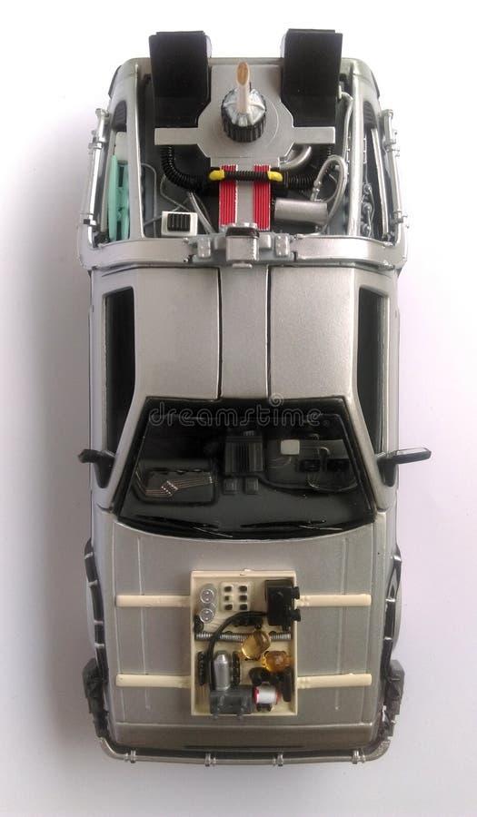 Delorean przyszłościowa samochodowa część 3 - Z powrotem obrazy stock