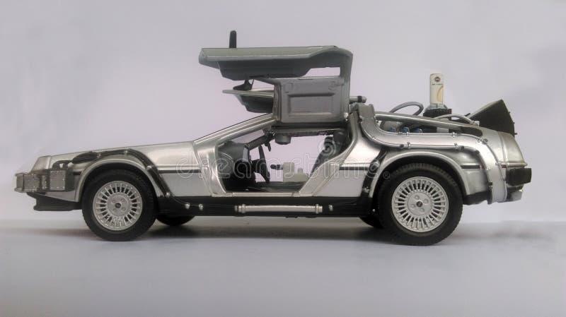 Delorean przyszłościowy samochód - Z powrotem obraz stock