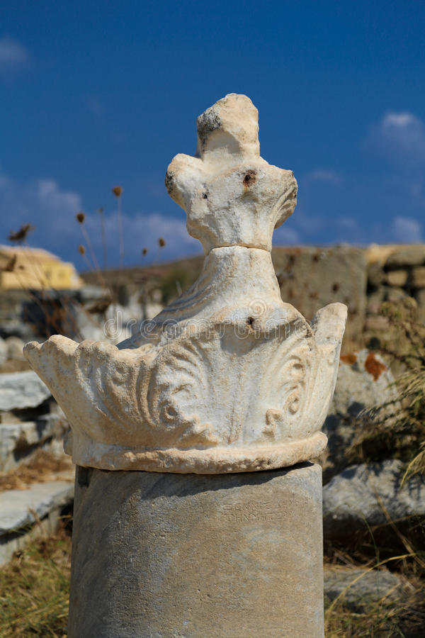 Delos废墟 库存照片
