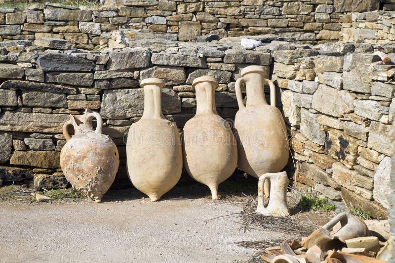 Delos Amphora stockfotografie