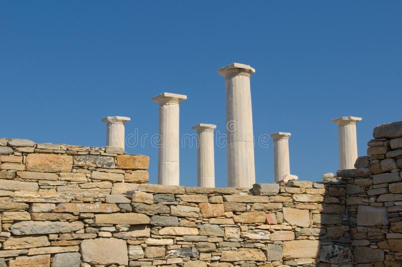 delos greece fördärvar arkivbild