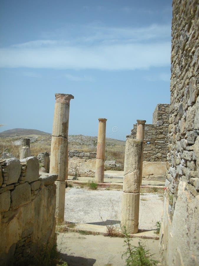 Delos Grekland arkivbild