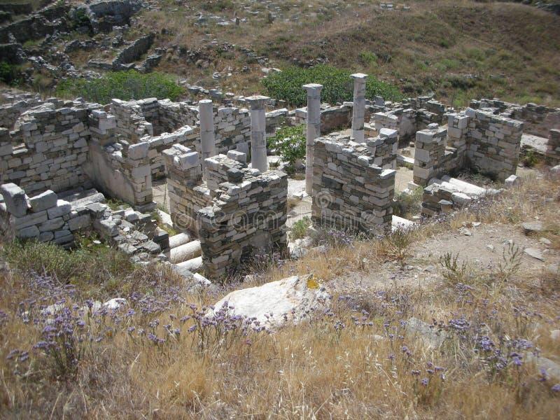 Delos Grekland royaltyfri foto