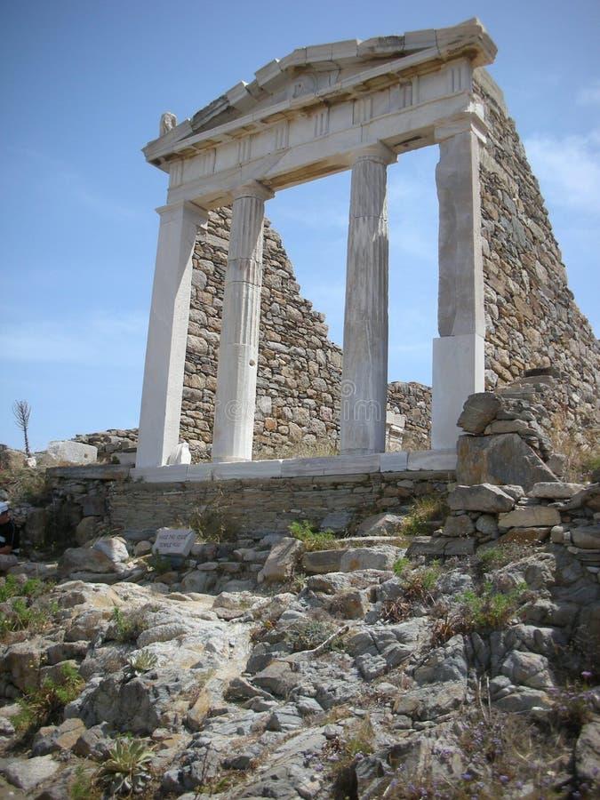 Delos Grekland royaltyfri bild