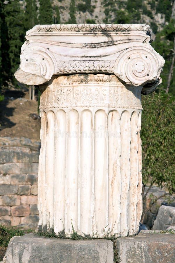delphi antyczny archeologiczny szpaltowy miejsce fotografia royalty free