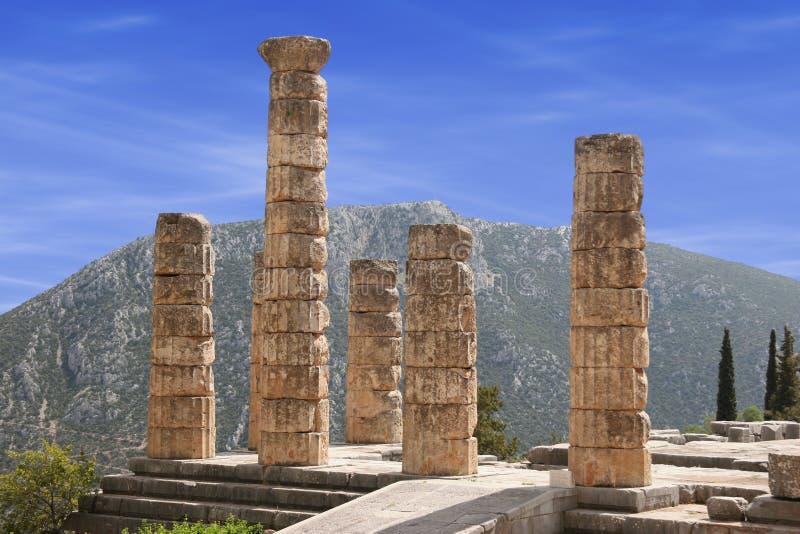 Delphi columns stock photos
