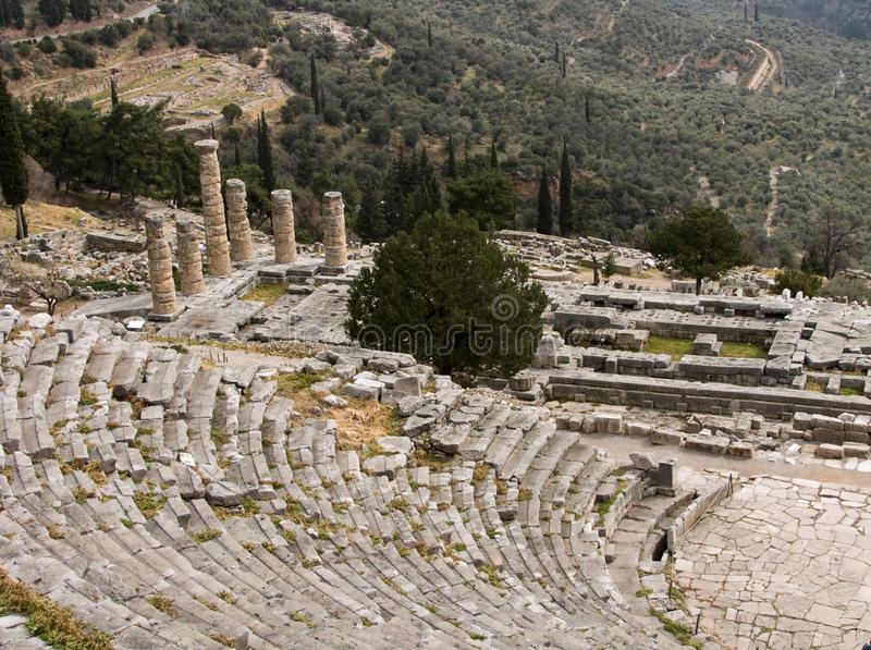 Delphi Greece fotografia de stock royalty free