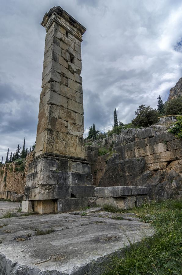 delphi Greece Filar Prusias II fotografia royalty free