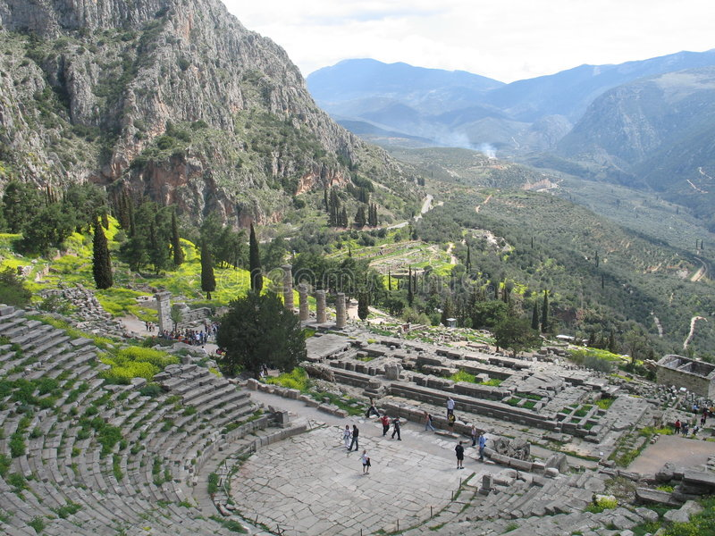 Delphi, Griechenland stockbild