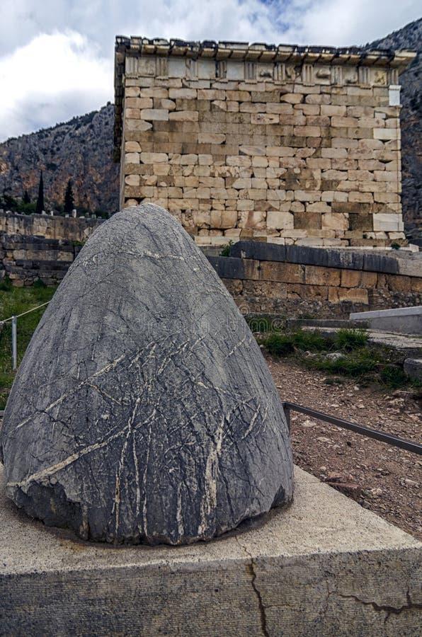 Delphi, Phocis/Griechenland ` Der Nabel des Erde-` lizenzfreie stockfotografie