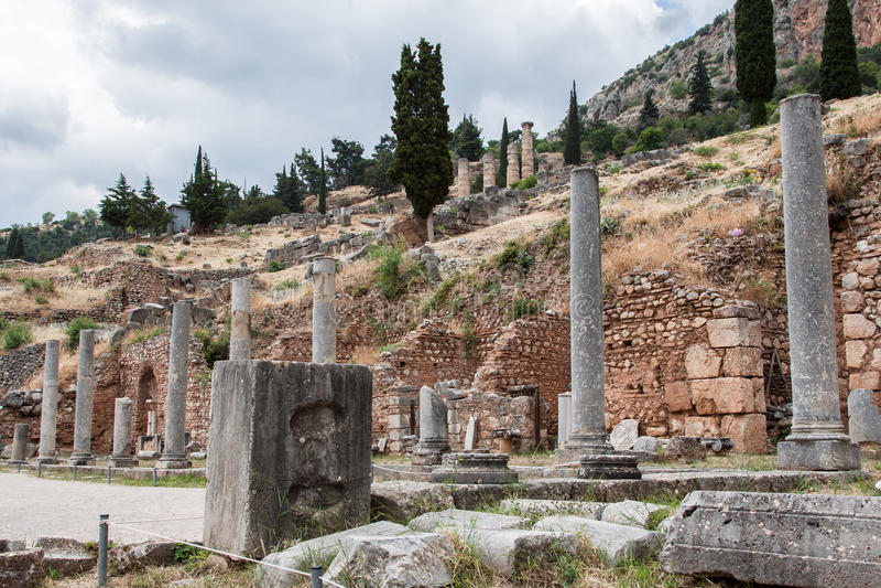 Delphi Ruins Greece royalty free stock image