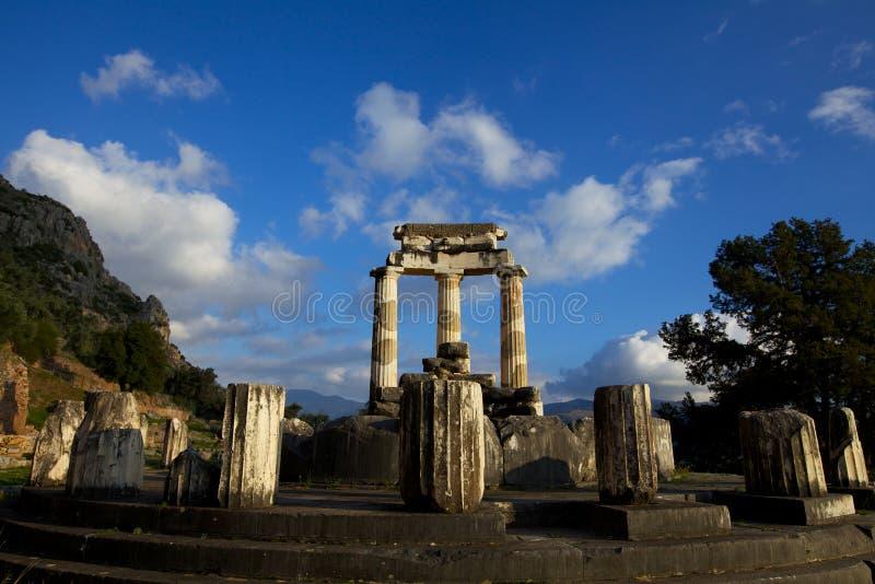 Delphi Temple imagens de stock