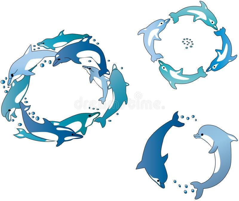 Delphines vector illustratie