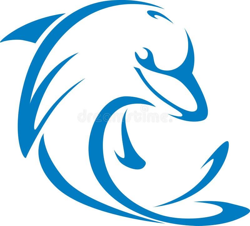 Delphinswish-Art stock abbildung