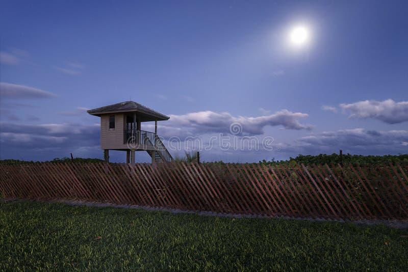 Delray Beach en la noche imágenes de archivo libres de regalías