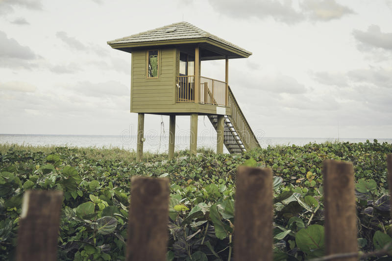 Delray Beach. In Florida with Lifeguard station stock images