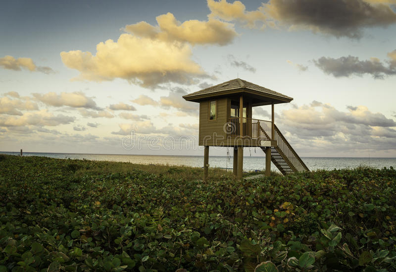 Delray Beach. In Florida with Lifeguard station royalty free stock images