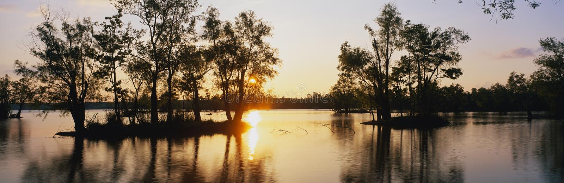 Delstatspark för LakeFausse punkt, LA arkivfoton