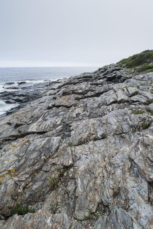 Delstatspark för två ljus på Maine Coast arkivbild