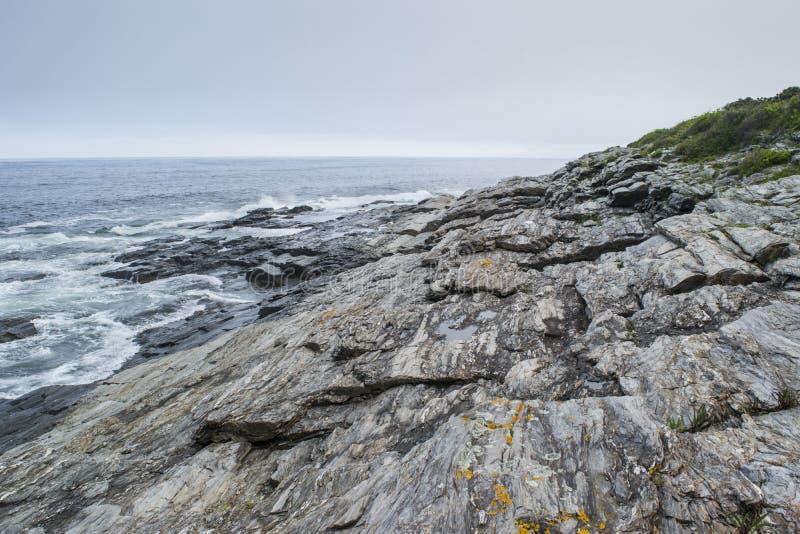 Delstatspark för två ljus på Maine Coast royaltyfria bilder