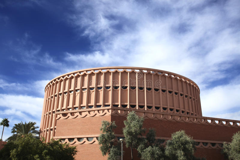 delstatsuniversitet för arizona byggnadsmusik royaltyfria foton