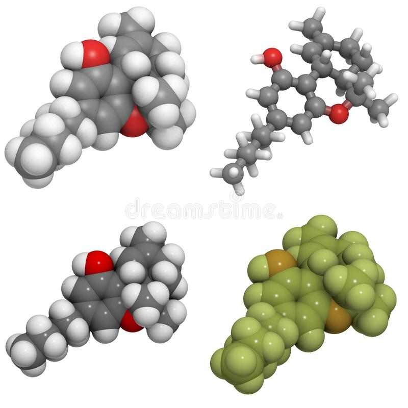 Download Delta-9-tetrahydrocannabinol Molecule Stock Illustration - Illustration: 24258319
