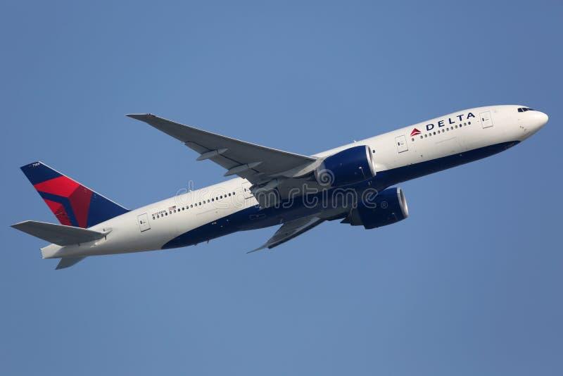Delta Air Lines Boeing 777-200LR στοκ φωτογραφίες