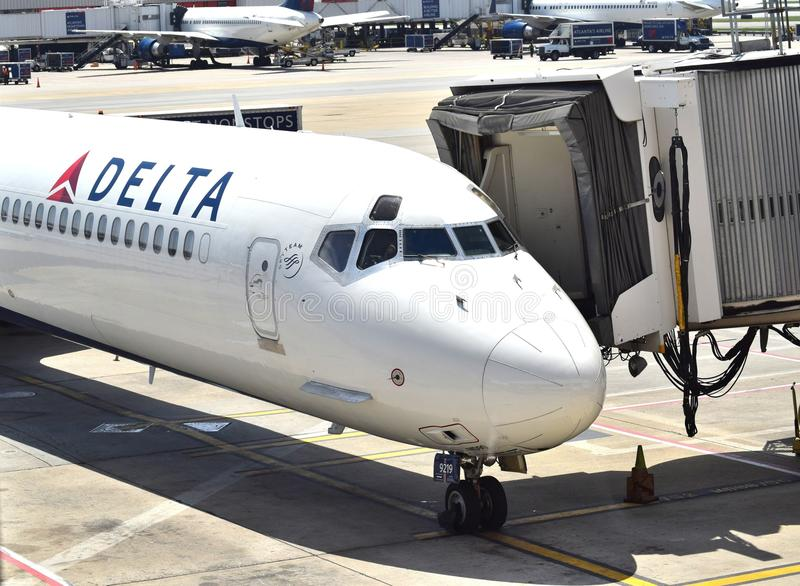 Delta Airlines à ATL photo libre de droits