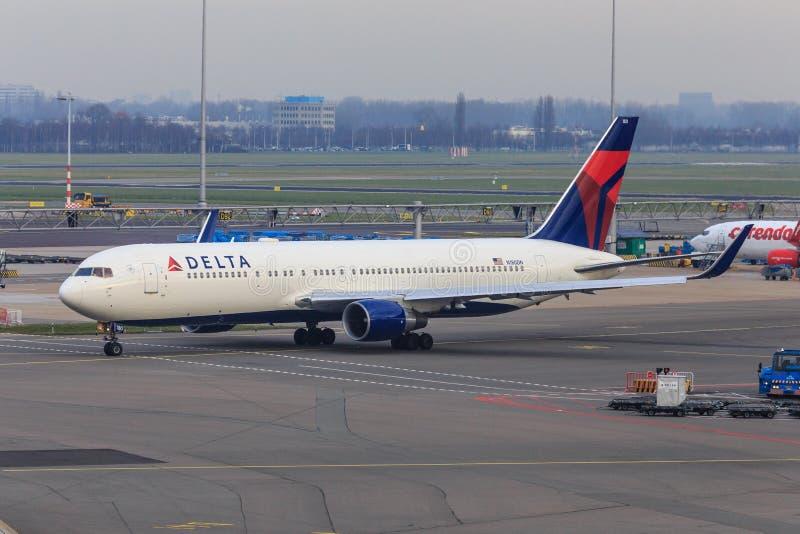 Delta Airlines 767-300 images libres de droits