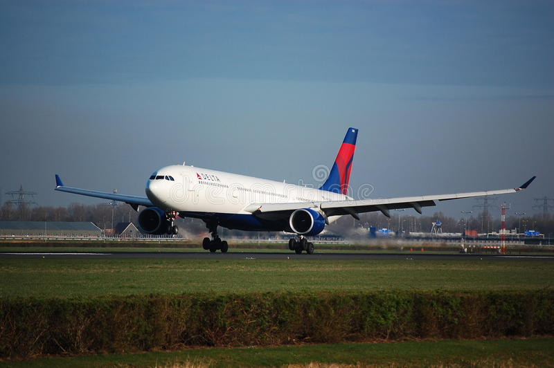 Delta Airlines A330-300 stock photo