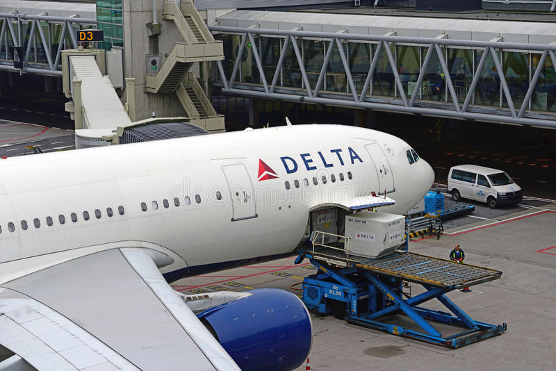 Delta Airlines Airbus A330 N854NW image stock